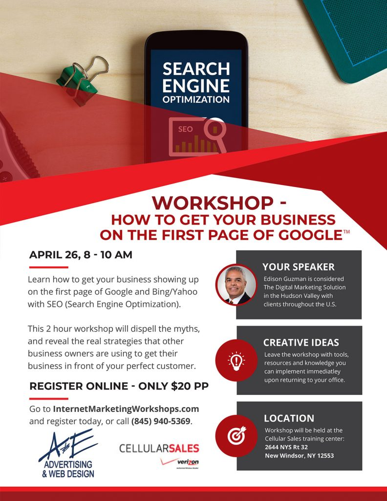 SEO Workshop Orange County NY